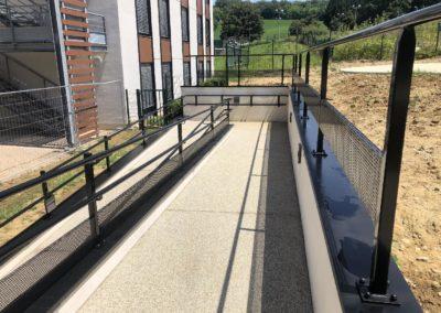 Fabrication Accès handicapé Neuville sur Saône Hôpital gériatrique