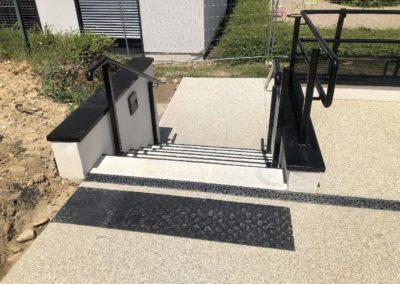 Escalier Fabrication Accès handicapé Neuville sur Saône Hôpital gériatrique