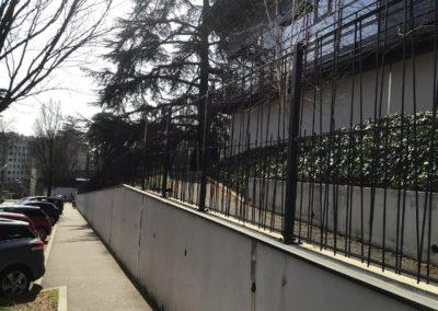 contrôle accès Oullins école citée Chabrière clôture