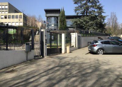 contrôle accès Oullins école citée Chabrière portail coulissant
