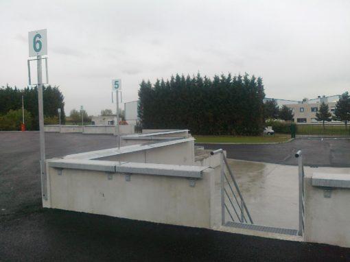 Fabrication de bavettes de quais et d'escaliers pour la déchetterie de Toussieux Reyrieux.
