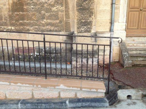 Fabrication de garde-corps pour l'église de saint Cyr au mont d'or
