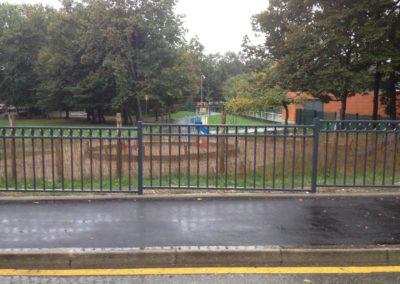 fabrication et pose d'une clôture de parc de jeux à Ferney-Voltaire