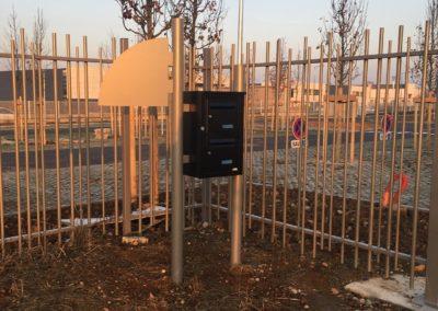 Clôture site industriel à Vaulx en Velin pour une auto-école ECF